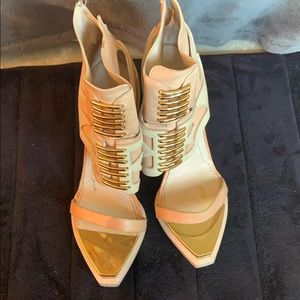 Givenchy ankle high gladiator heels sz 39